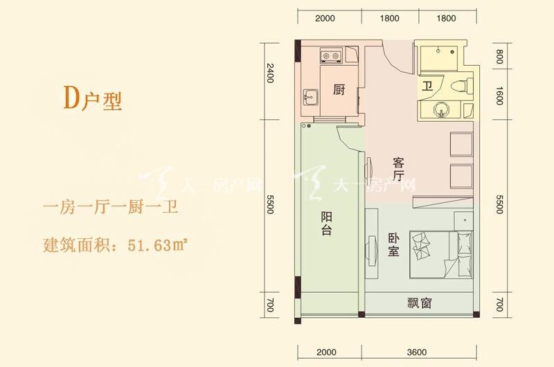 天成国际 D户型 1房1厅1厨1卫 51.63㎡.jpg