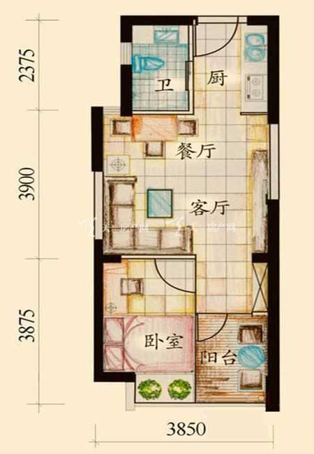 绿岛 A户型1室1厅1卫1厨39.78㎡.jpg