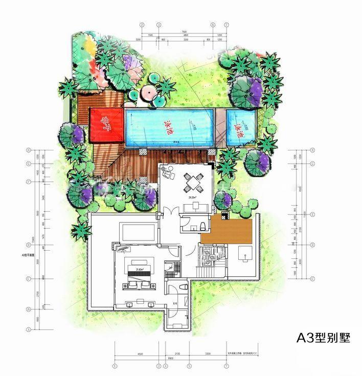 凤凰谷 A3户型别墅