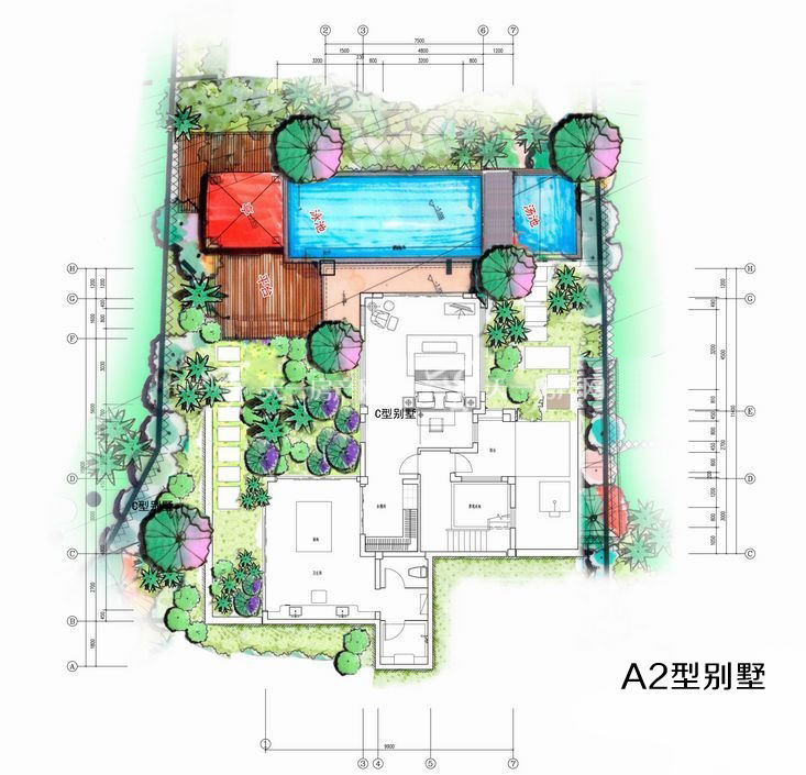 凤凰谷 A2户型别墅