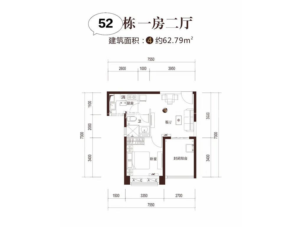 52号楼-04-户型-一房