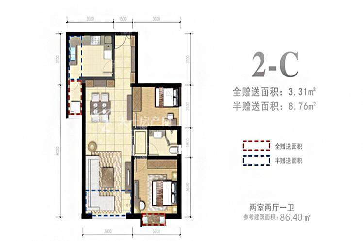 2-C户型2室2厅1卫1厨86.40㎡.jpg