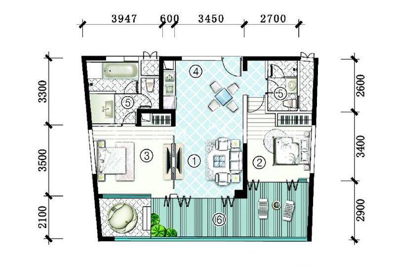 SA3栋-B-型2房2厅1厨2卫-125.56㎡.jpg