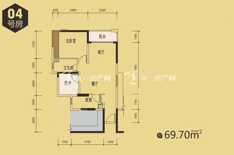 1栋04户型居室:2室2厅1卫1厨建筑面积:69.00㎡.jpg
