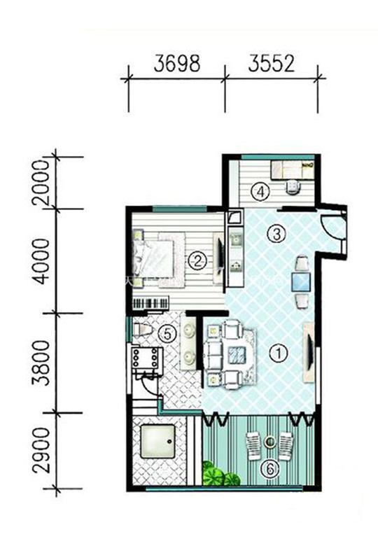 翰海SA3栋-A-2房2厅0厨1卫-109.95㎡.jpg