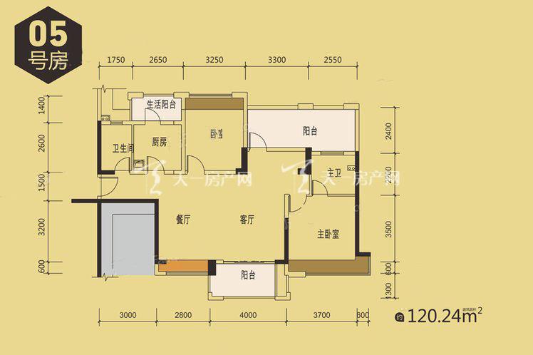 1栋05户型居室:2室2厅2卫1厨建筑面积:140.00㎡.jpg